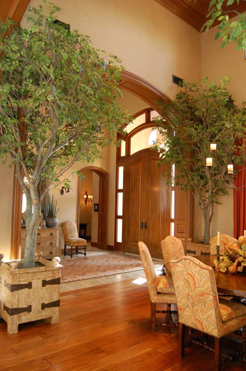 indoor tree living trees ficus room plants artificial naturemaker garden fake landscape decorating decor amazing residential residence traditional nature rooms