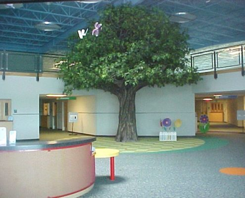 oak tree in community church play space